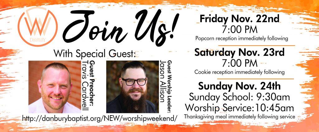 Worship Weekend Banner