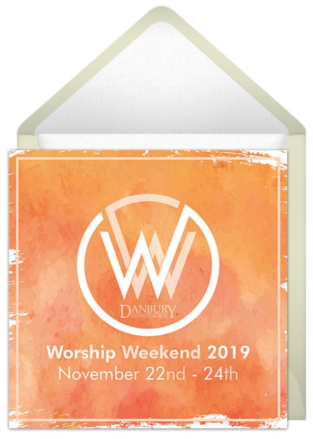 Worship Weekend Invite